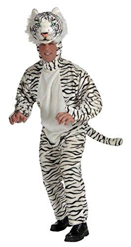 [Forum Novelties Men's White Tiger Deluxe Plush Mascot Costume, White, Standard] (White Tiger Costumes)