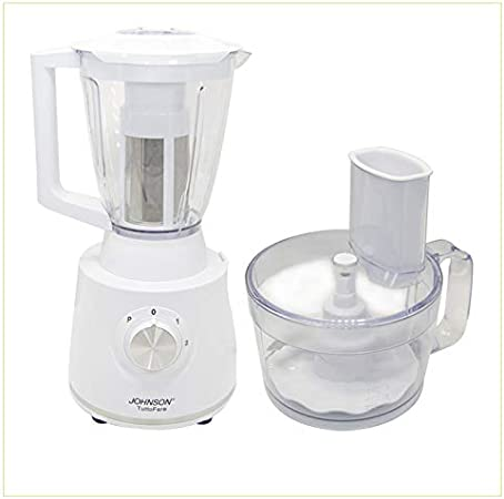 Batidora Tuttofare 600 W con dos velocidades, picadora todo con cuchillas de acero, con jarra, taza grande robot de cocina: Amazon.es: Hogar
