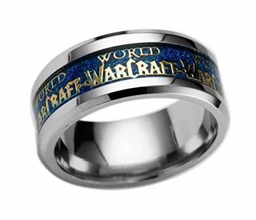 Main Street 24/7 World of Warcraft Stainless Steel BAND RING Assorted Sizes (11)