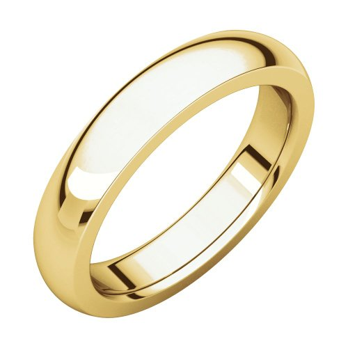 Jewels By Lux 22K Yellow Gold 4mm Heavy Comfort Fit Mens Wedding Ring Band ()