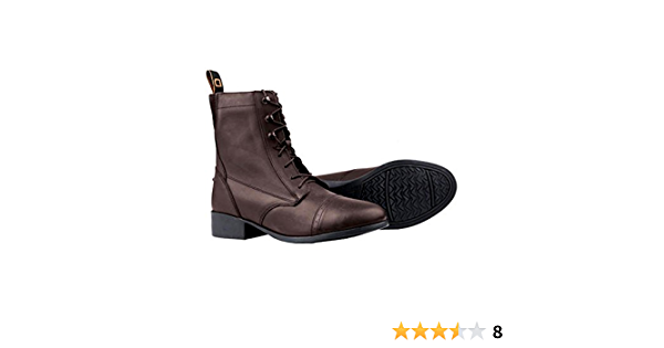 Dublin Elevation Laced Paddock Boots II Brown Ladies 8