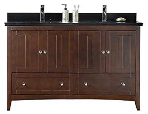 """on sale Jade Bath JB-17687 59.5"""" W x 18"""" D Plywood-Veneer Vanity Set, Walnut"""
