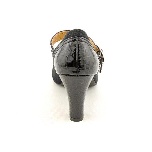 Karen Scott Tessa Femmes Mary Jane Sangle Pompe Talon Chaussure Noir Taille 10