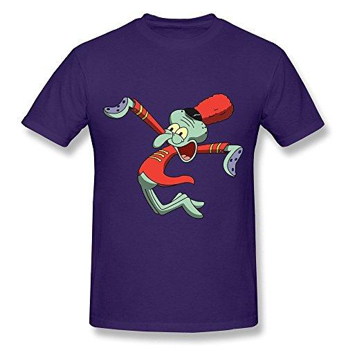 HD-Print New Design Spongebob Squarepants Sponge Bob T-shirt For Men Purple Size XL (Elf On The Shelf On The Toilet)