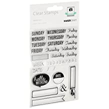 Kaisercraft CS156 Acrylic Rubber Captured Moments Stamp, 6.25 by 4-Inch, Weekdays, Clear