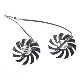 TOMUM 2Pcs/lot PLD09210D12HH 85mm DV 12V 0.4A HD7950 HD7870 HD6790 HD6850 Graphicss Card Dual Fan Large Volume 40x40x41mm Cooling Fan Cooler