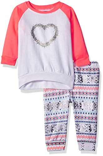 Limited Too Baby Girls 2 Piece Fleece Jog Set, Heart Multi Color, 12M ()