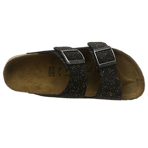 Papillio Womens by Birkenstock Arizona Suede Sandals Black