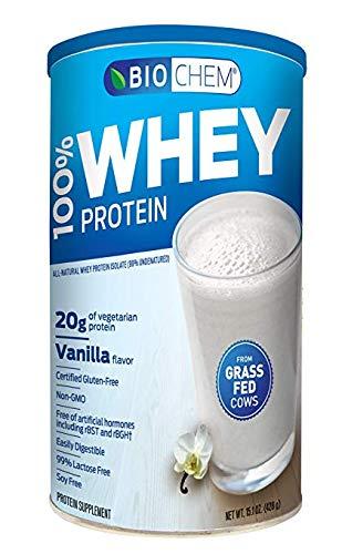 Biochem 100% Whey Protein, Vanilla, 15.1-Ounces - Buy ONE GET ONE Free