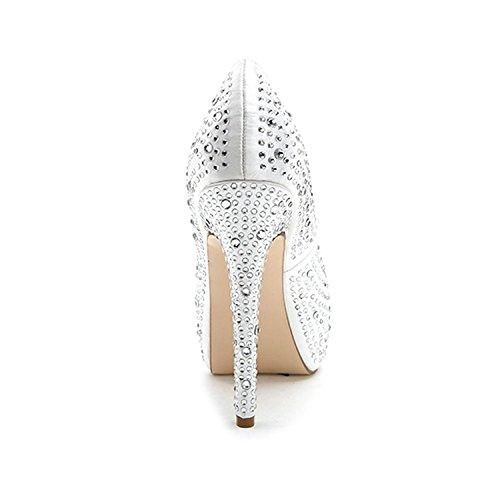 High autumn 14 YC Spring Shoes Women'S Club Platform L Shoes 3128 Wedding Champagne amp; Winter Summer F Heels wWAHyxqcF
