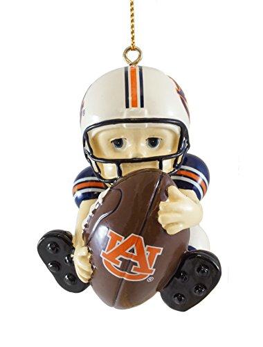 Auburn Tigers Football Player Hanging Christmas Ornament - Auburn Santa