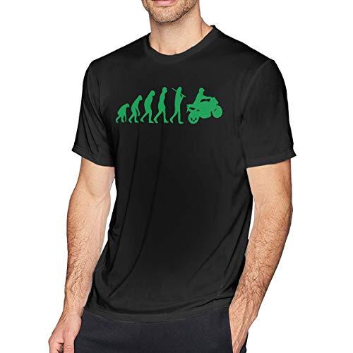 Liel588@ Men's Short Sleeve Crew-Neck T-Shirt Motorcycle Evolution Printing Tees ()