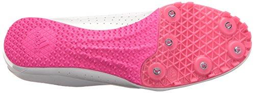Adidas Performance Dames Sprintstar W Dames Hardloopschoenen Met Spikes Wit / Zwart / Shock Pink