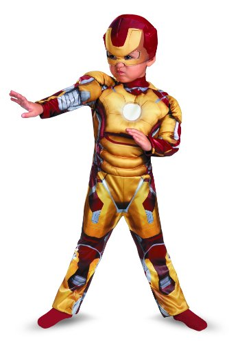 [Disguise Marvel Iron Man Movie 3: Iron Man Mark 42 Toddler Muscle Costume, 4-6] (Halloween Costumes Iron Man)