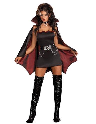 [Fang Bangin' Fun Vamp Costume - Plus Size 1X/2X - Dress Size 16-18] (Sexy Witch Costumes Plus Size)
