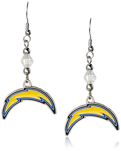 NFL San Diego Chargers Crystal Dangle Earrings