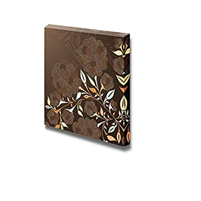 Pretty Print, With Expert Quality, Brown Floral Pattern