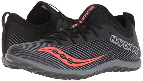 Saucony Women's Havok XC2 Flat Track Shoe Black/Grey/Vizi-red 5.5 M US by Saucony (Image #5)