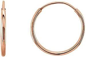 Details about  /14K REAL Solid Gold Chain Hoop Earring Gold Hoop Rope Hoop Gold Hoop Huggie