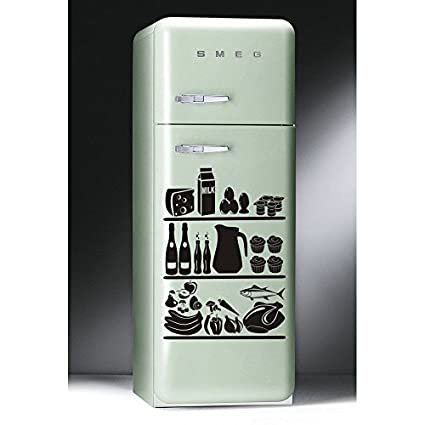 Único frigorífico cocina nevera congelador arte creativo PVC de ...