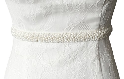 Lovful Womens Beaded Applique Bridal Belt Wedding Sash Applique