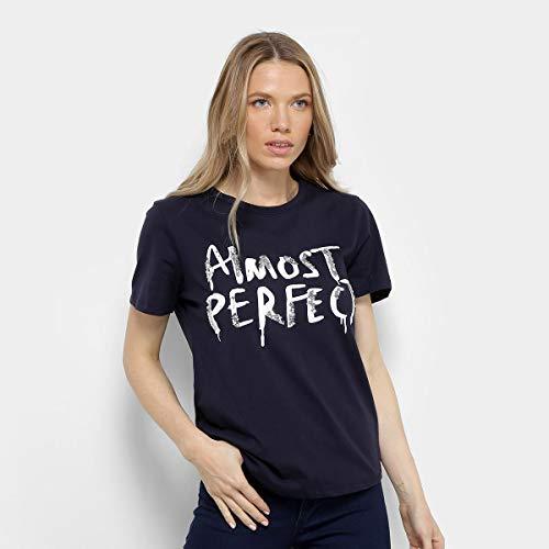 4c6ec2740 Camiseta Facinelli Almost Perfect Feminina - Marinho - Gg ...