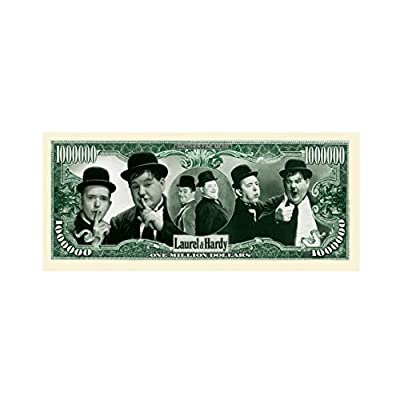 American Art Classics Laurel and Hardy Million Dollar Bill - (Pack of 5) - Best Gift for Lovers of This Comedy Duo: Toys & Games