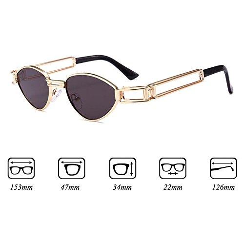 C6 Sunglasses soleil Steampunk Box Metal Retro WEIMEITE Lunettes UV400 Femme de 6FvwqxU
