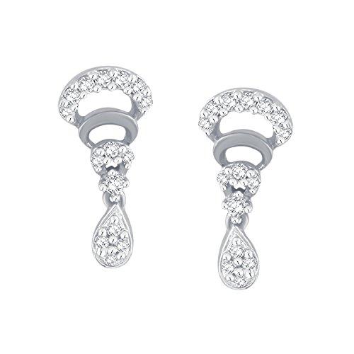 Giantti 14carats Diamant pour femme Dangler Boucles d'oreilles (0.2604CT, VS/Si-clarity, Gh-colour)