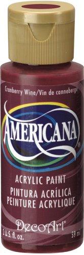 DecoArt Americana Acrylic Paint, 2-Ounce, Cranberry Wine ()