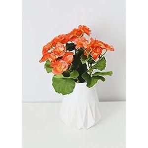 "Afloral Orange Begonia Silk Flowers Bush - 10"" Tall 65"