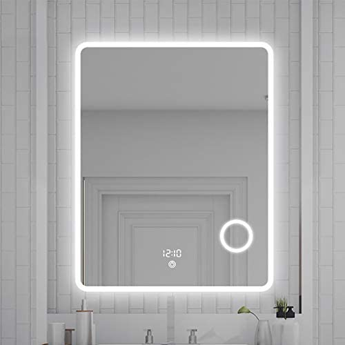 Atlanta Espejo K24 Alasta/® con Interruptor de luz t/áctil Espejo de Ba/ño con Iluminaci/ón LED 50x70 cm