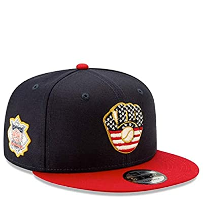 New Era Milwaukee Brewers 2019 Stars & Stripes 4th of July 950 9FIFTY Snapback Adjustable Cap Hat