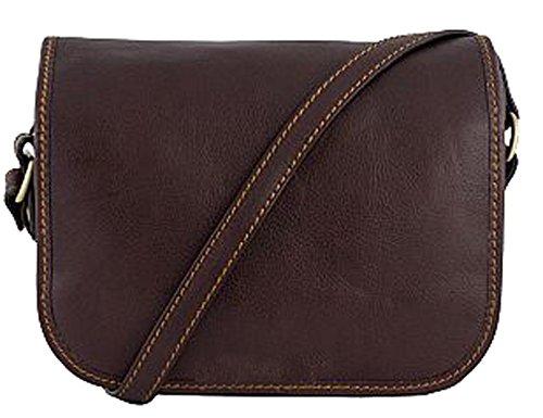G & G Pelletteria - Cross Leather Bag For Women T.moro