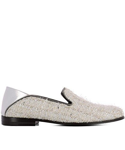 Alexander McQueen Women's 520086W4i219268 White Fabric Loafers