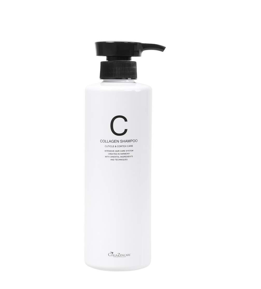 CollaZen Care Collagen Shampoo Cuticle Cortex 17.63 Ounce. Made in Korea. For Dry, Damaged, Colored Hair. Contains Ginseng Extract and Collagen. For Men and Woman