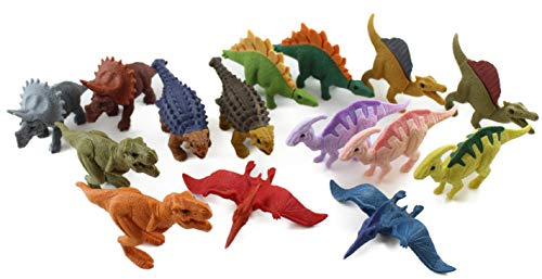Iwako Japanese Erasers Set of 15 (Dinosaurs) - Japanese Stationery Original ()