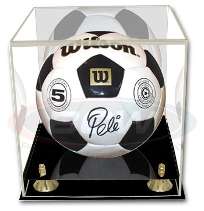 BCW Deluxe Soccer or Volley Ball Display Case - with Mirror - Sports Memorabilia Holder - Collecting Supplies by BCW