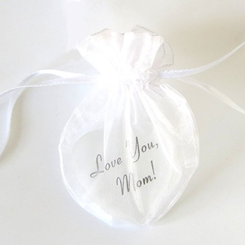 Lifeforce Glass Love You White Mom A Glass Heart with Sheer Pouch to Show Your Mom How Much You Love Her Inc.