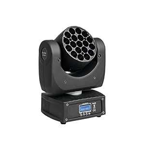 Eurolite LED tmh de 19Moving de Head Beam 19x 3W RGBW LED