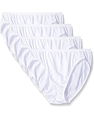 Hanes Women's 4 Pack Ultimate Hi-Cut Panty 43KU