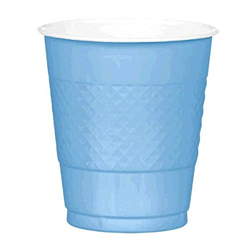 Baby Blue 12oz Plastic Cups (20ct) by Amscan