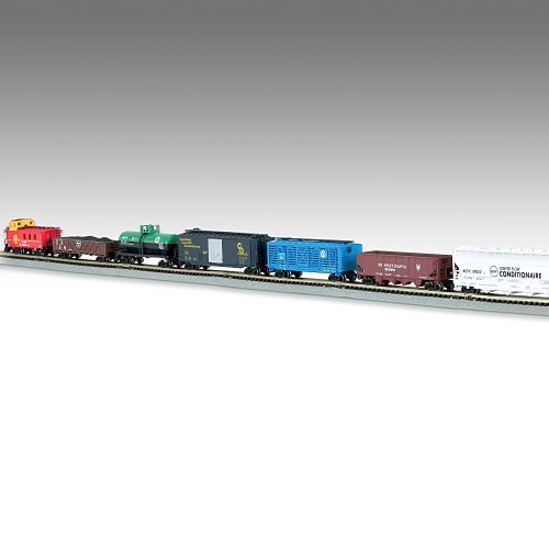 The Empire Builder 10-Car N-Scale Train Set With Complete E-Z Track Railroad System by Hawthorne Village