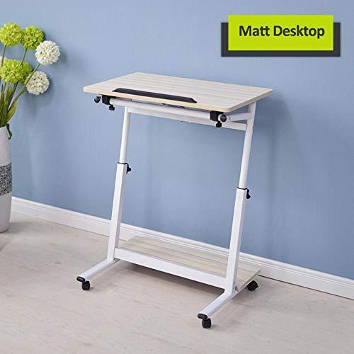 Escritorio para computadora movil Soporte para Laptop Mesa Estudio Oficina y Hogar Altura Ajustable de60-85cm-Color de Madera 1_Los 40x60cm