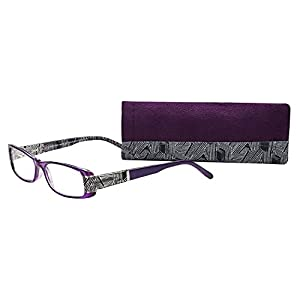 SAV Eyewear (Select-A-Vision) Victoria Klein Fashion Rectangular Reading Glasses 9072 Purple, 2.50