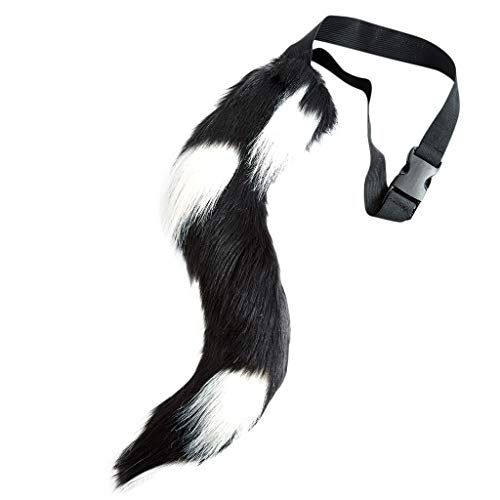 Scary Bloody Harley Quinn Costumes - MALLOOM Halloween Faux Fur Tail Belt