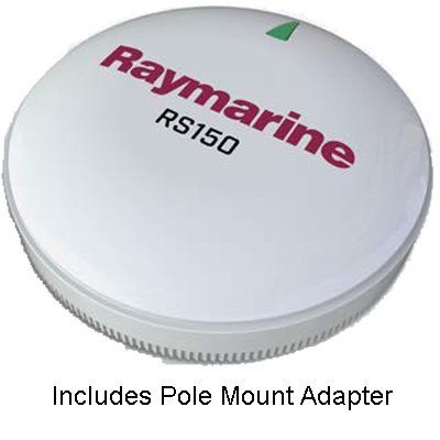 Differential Gps Receiver (Raymarine T70327 RS150 GPS Antenna, w/ Pole Mount Kit)