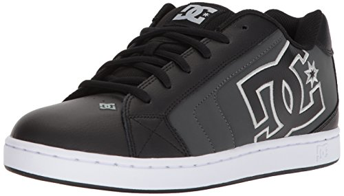 DC Men's Net Skate Shoe, Black/Grey, 11 D US
