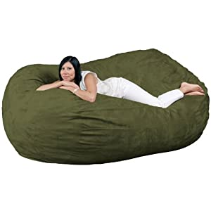 Fugu 7-Foot Bean Bag Chair, Olive