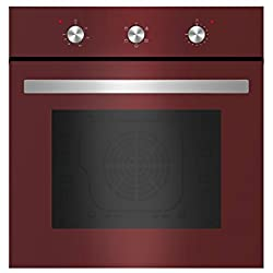 "Empava 24"" Tempered Glass Electric Built-in Single Wall Oven 2000W 110V, Red"